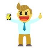 Bande dessinée et smartphone d'Officeman Images libres de droits
