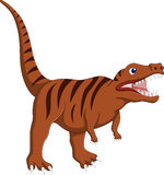 Bande dessinée fâchée de dinosaurus Photographie stock libre de droits