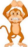 Bande dessinée fâchée de singe Photographie stock