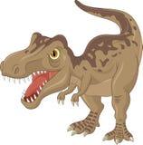 Bande dessinée fâchée de tyrannosaure illustration stock