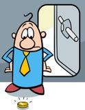Bande dessinée faillite d'homme d'affaires illustration de vecteur