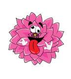 Bande dessinée folle de fleur de dahlia Photos stock
