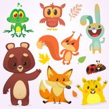 Bande dessinée Forest Animals Set Illustration de vecteur Grand ensemble d'illustration d'animaux de région boisée de bande dessi Illustration Libre de Droits