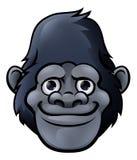 Bande dessinée Gorilla Face mignon Photographie stock