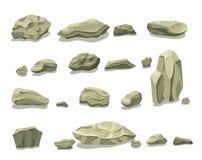 Bande dessinée Gray Stones Set coloré Photos stock
