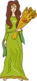Bande dessinée grecque de demeter de déesse Photos libres de droits