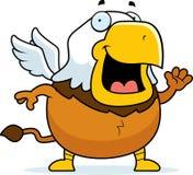 Bande dessinée Griffin Waving illustration stock