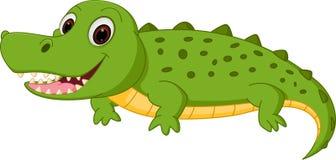 Crocodile vert heureux de dessin anim d 39 isolement sur le blanc illustration de vecteur - Dessin anime crocodile ...