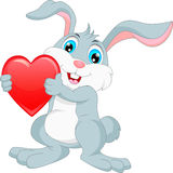 Bande dessinée heureuse de lapin Photo libre de droits