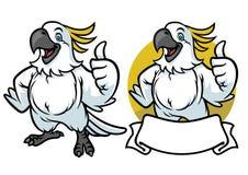 Bande dessinée heureuse de perroquet illustration de vecteur