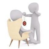 Bande dessinée Hypnotherapist soignant le patient en session illustration libre de droits