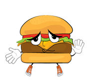 Bande dessinée innocente d'hamburger illustration libre de droits