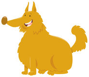 Bande dessinée jaune de chien hirsute illustration libre de droits
