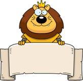 Bande dessinée Lion King Armor Banner illustration libre de droits