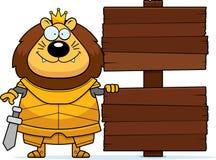 Bande dessinée Lion King Armor Sign illustration libre de droits