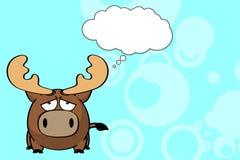 Bande dessinée mignonne background5 de boule de renne illustration stock