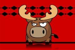 Bande dessinée mignonne background6 de boule de renne illustration stock