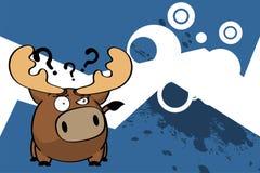 Bande dessinée mignonne background7 de boule de renne illustration stock