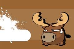 Bande dessinée mignonne background8 de boule de renne illustration stock