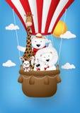 Bande dessinée mignonne, cartes de voeux avec les animaux mignons photo libre de droits