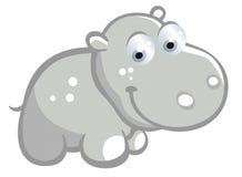 Bande dessinée mignonne d'hippopotame Image libre de droits