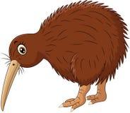 Bande dessinée mignonne d'oiseau de kiwi Images stock
