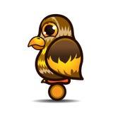 Bande dessinée mignonne d'oiseau de petit hibou Photographie stock libre de droits