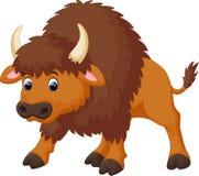 Bande dessinée mignonne de bison illustration de vecteur