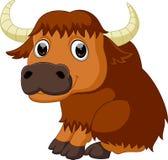 Bande dessinée mignonne de bison illustration stock