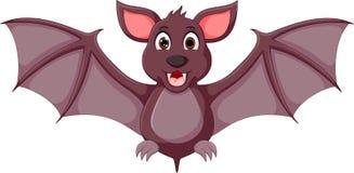 Bande dessinée mignonne de chauve-souris se tenant avec rire et onduler illustration libre de droits