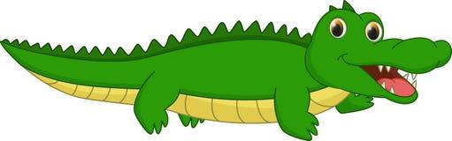 Bande dessinée mignonne de crocodile Image libre de droits