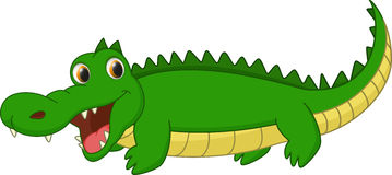 Bande dessinée mignonne de crocodile Photographie stock libre de droits