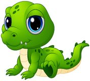 Bande dessinée mignonne de crocodile de bébé Photos libres de droits