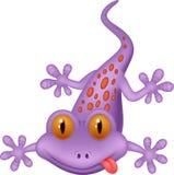 Bande dessinée mignonne de gecko illustration stock