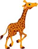 Bande dessinée mignonne de girafe Images stock