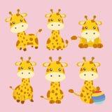 Bande dessinée mignonne de girafe Photos libres de droits