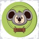 Bande dessinée mignonne de koala Image libre de droits