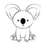 Bande dessinée mignonne de koala d'aspiration de croquis Photographie stock libre de droits