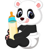 Bande dessinée mignonne de panda de bébé Photos stock