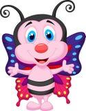 Bande dessinée mignonne de papillon illustration de vecteur