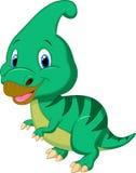 Bande dessinée mignonne de parasaurolophus de dinosaure Image libre de droits