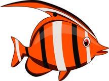 Bande dessinée mignonne de poissons illustration de vecteur