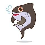Bande dessinée mignonne de poissons de requin Image stock