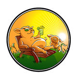 Bande dessinée mignonne de porcs Image stock
