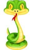 Bande dessinée mignonne de serpent vert Photos libres de droits