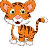 Bande dessinée mignonne de tigre de bébé illustration libre de droits