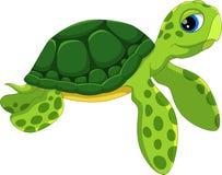 Bande dessinée mignonne de tortue de mer Drôle et adorable illustration de vecteur