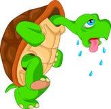 Bande dessinée mignonne de tortue verte Image stock