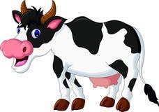 Bande dessinée mignonne de vache pour vous conception Photographie stock