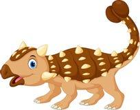 Bande dessinée mignonne et adorable d'ankylosaurus illustration de vecteur